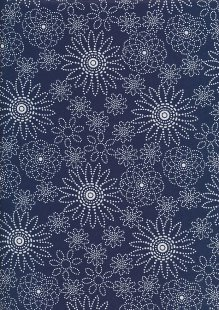 Quality Cotton Print - Navy Spiro