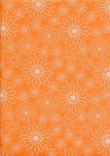 Quality Cotton Print - Orange Spiro