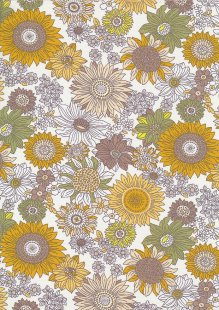 Quality Cotton Print - Ochre Floral