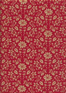 John Louden - Christmas Poinsettia JLX0032 Red/Gold