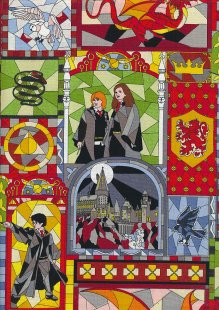 Harry Potter HP Stained Glass Window ctn 23800141VS
