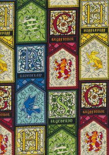 Harry Potter HP Houses Stained Glass 23800143VS