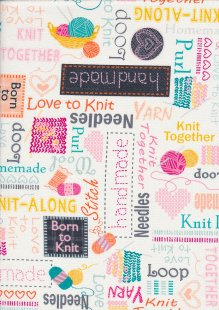 Kanvas Studio - Knit Together Words to Knit by 7874-09 White