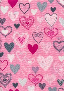 Kanvas Studio - Knit Together Knit Together Hearts 7873-02 Pink