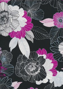 Kanvas Studio - Midnight Pearl 7878-P-26 Midnight Blooms Black