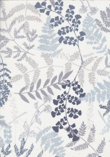 Kanvas Studio - Midnight Pearl 7879-P-09 Midnight Fern White