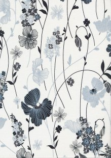 Kanvas Studio - Midnight Pearl 7881-P-09 Midnight Garden White
