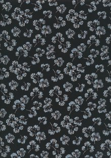 Kanvas Studio - Midnight Pearl 7884-P-12 Midnight Flower Sprigs Black