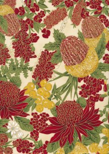 Leesa Chandler - Under The Australian Sun Floral Red Ivory