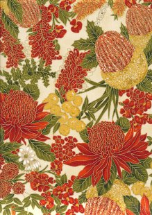 Leesa Chandler - Under The Australian Sun Floral Orange Cream
