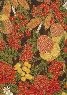 Leesa Chandler - Under The Australian Sun Floral Orange Brown