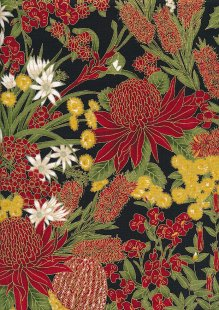 Leesa Chandler - Under The Australian Sun Floral Red Black