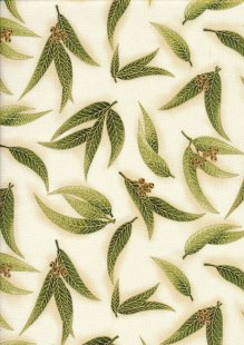 Leesa Chandler - Under The Australian Sun Green Leaves Leaves Green Ivory