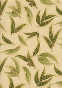 Leesa Chandler - Under The Australian Sun Green Leaves Leaves Olive Taupe