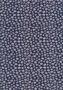 Rose & Hubble - Quality Cotton Print CP-0861 Navy