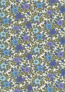 Rose & Hubble - Quality Cotton Print CP-0223 Blue