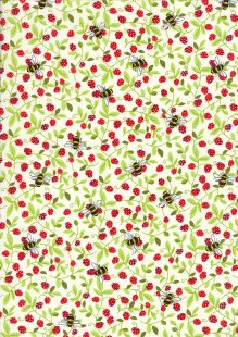 Rose & Hubble - Quality Cotton Print CP0867 Ivory Bees