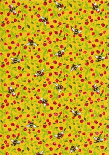 Rose & Hubble - Quality Cotton Print CP0867 Yellow Bees
