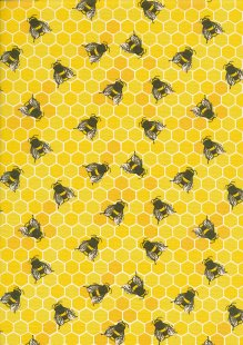 Rose & Hubble - Quality Cotton Print CP0837 Honey Bees