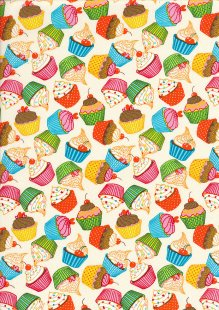 Rose & Hubble - Quality Cotton Print CP0874 Cream Cupcakes