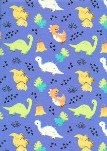 Rose & Hubble - Quality Cotton Print CP0847 Royal Dinosaurs