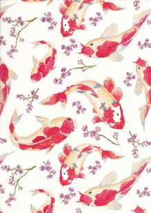 Rose & Hubble - Quality Cotton Print CP0473 Ivory