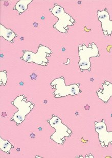 Rose & Hubble - Quality Cotton Print CP0845 Pink Llamas