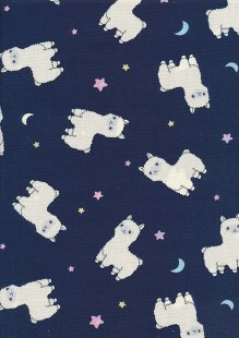 Rose & Hubble - Quality Cotton Print CP0845 Navy Llamas