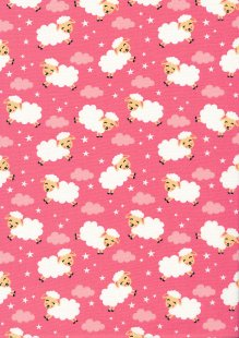 Rose & Hubble - Quality Cotton Print CP-0863 Rose Sheep