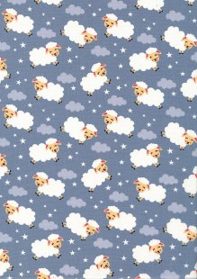 Rose & Hubble - Quality Cotton Print CP-0863 Grey Sheep