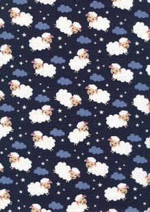 Rose & Hubble - Quality Cotton Print CP-0863 Navy Sheep