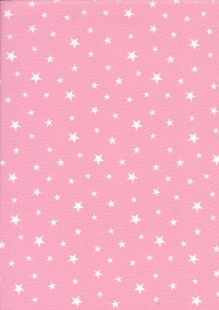 Rose & Hubble - Quality Cotton Print Stars Pink CP0851