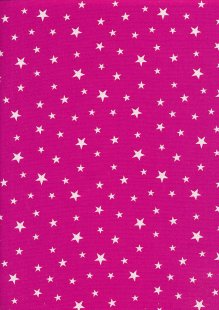 Rose & Hubble - Quality Cotton Print Stars Cerise CP0851