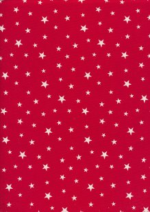 Rose & Hubble - Quality Cotton Print Stars Red CP0851