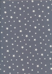 Rose & Hubble - Quality Cotton Print Stars Grey CP0851
