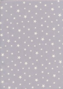Rose & Hubble - Quality Cotton Print Stars Silver CP0851