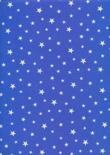 Rose & Hubble - Quality Cotton Print Stars Royal CP0851