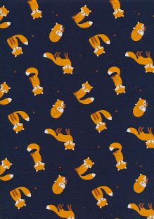 Rose & Hubble - Quality Cotton Print CP-0832 Navy