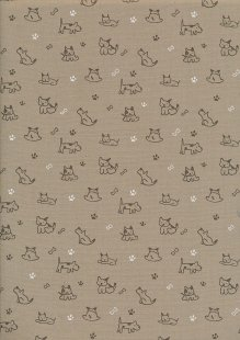Rose & Hubble - Quality Cotton Print CP-0856 Beige