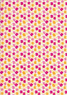 Rose & Hubble - Pressed Flowers & Leafs Pink & Yellow