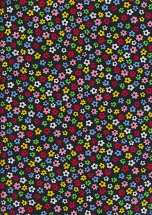 Rose & Hubble - Presssed Flower Multi Black