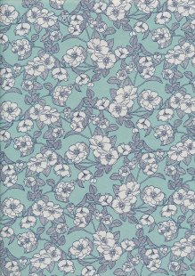 Rose & Hubble - White & Grey Rose Turquoise
