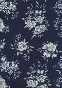 Rose & Hubble - Painted Rose On Navy