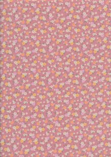 Rose & Hubble - Ditsy Floral On Pink