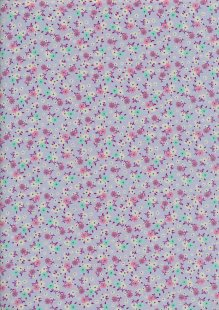 Rose & Hubble - Ditsy Floral On Purple