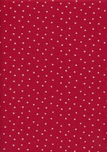 John Louden Scandi Christmas - Stars Cream On Red 9001N