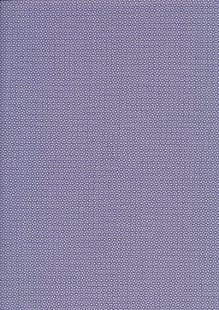 Sevenberry Japanese Ditsy Heirloom - Purple Mini Squares On White