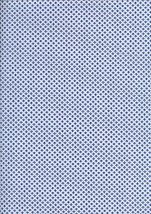 Sevenberry Japanese Ditsy Heirloom - Blue Space Invaders On White