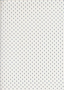 Sevenberry Japanese Ditsy Heirloom - Navy Blue Links On White