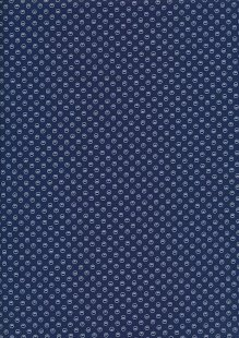 Sevenberry Japanese Ditsy Heirloom - White Circles On Blue